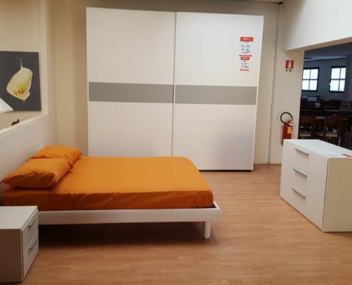Camera completa frassinato bianco e grigio outlet for Bml arredamenti