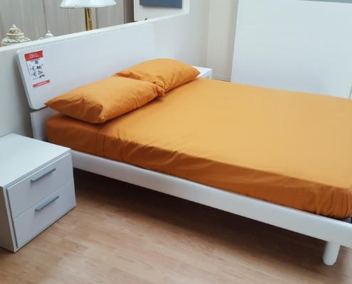 Camera completa frassinato bianco e grigio outlet for Outlet arredamento vicenza
