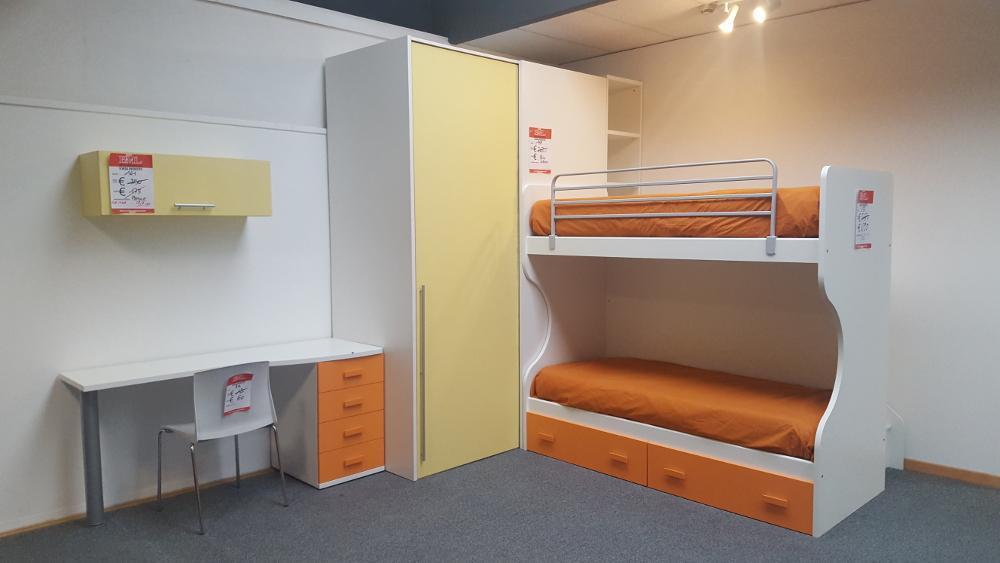 Cameretta a castello cabina armadio outlet mobili e for Bml arredamenti