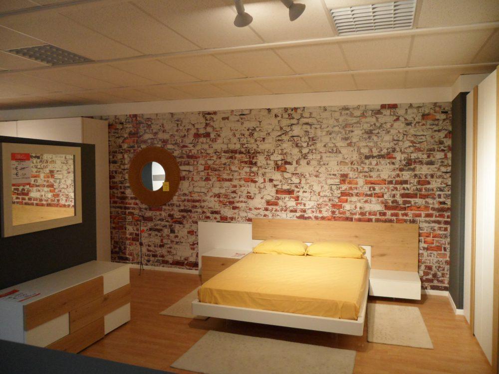 Camera matrimoniale bianco venato e rovere naturale for Outlet mobili vicenza
