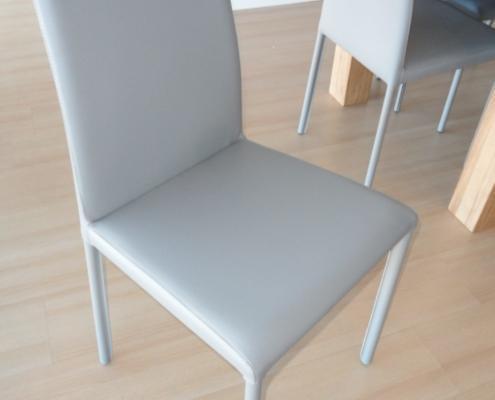 Sedia nunes ecopelle grigia outlet mobili e arredamento for Outlet arredamento vicenza